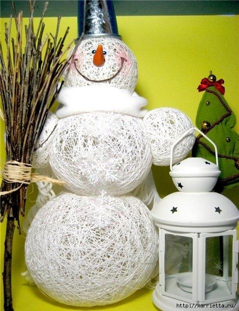 снеговик из ниток (1) (480x623, 214Kb)