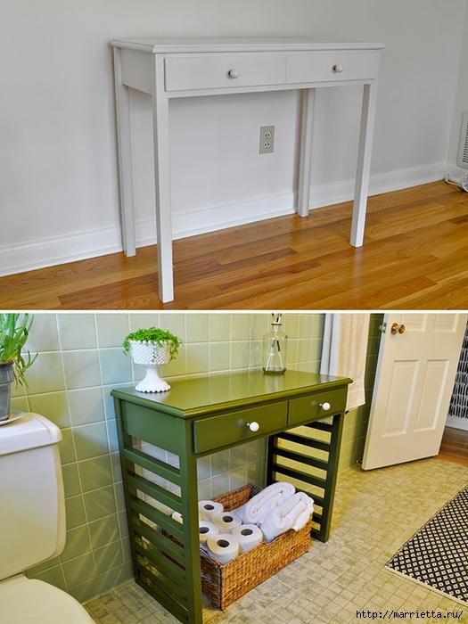Мебель для ванной комнаты своими руками. Столик и подставка для цветов (13) (525x700, 252Kb)