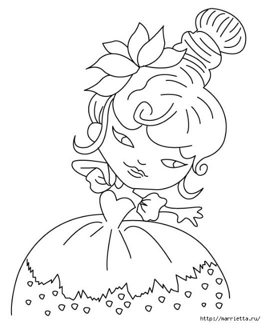 Арлекино, Пьеро и Коломбина. Идея росписи цветочных кашпо (12) (527x649, 112Kb)