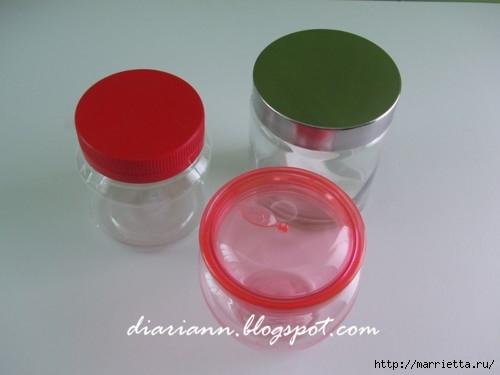 Decorar tapas para frascos con un paño (13) (500x375, 60Kb)