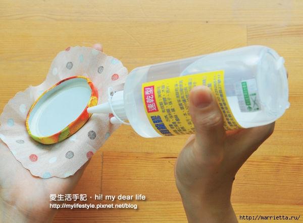 Decorar tapas para frascos con un paño (27) (600x443, 137Kb)