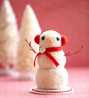 Árboles de navidad y muñecos de nieve de pompones (6) (360x400, 93Kb)