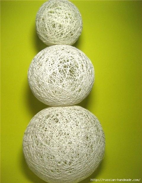 Нежные цветы, снеговик и декоративные шары из ниток. Мастер-классы (20) (480x621, 169Kb)