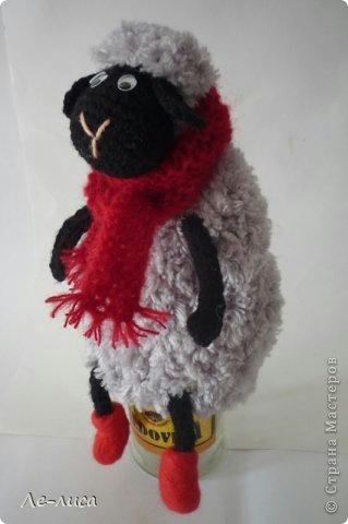 вязаная овечка, как связать овечку, схема вязания овечки, как сделать символ 2015 года своими руками, вязаный символ 2015 года, сувениры на 2015 Новый год своими руками, Хьюго Пьюго вязаная овечка,
