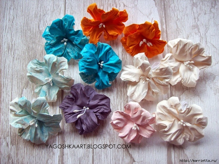 Цветы своими руками из пастельной бумаги