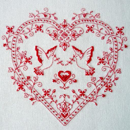 Сердце с голубями  (512x512, 399Kb)