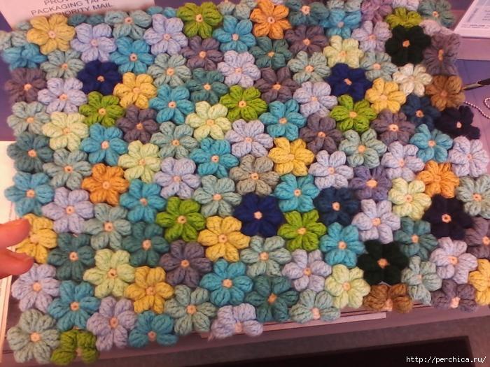 Плед крючком видео из цветов