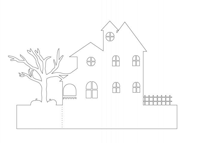Жуткая деревня из бумаги. Идея к Хэллоуину (1) (665x479, 63Kb)
