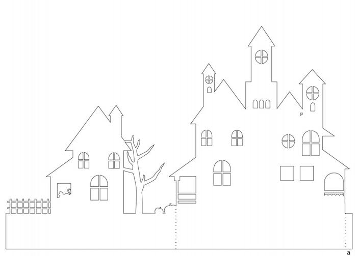 Жуткая деревня из бумаги. Идея к Хэллоуину (4) (700x503, 72Kb)