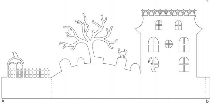 Жуткая деревня из бумаги. Идея к Хэллоуину (5) (700x348, 64Kb)