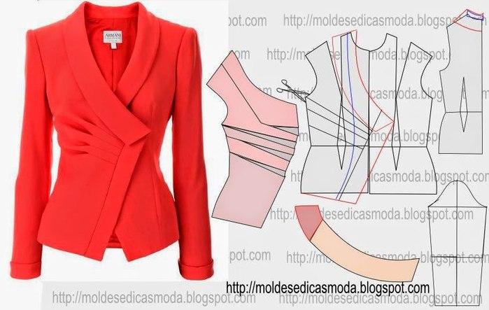Раскроить пиджак женский