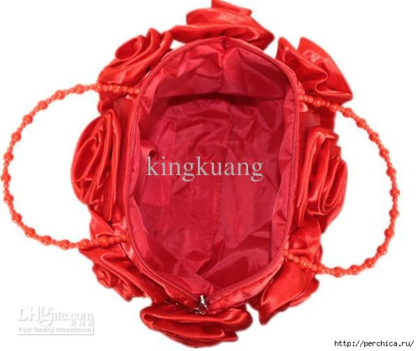 Large rose flower red handbag new handbags,Valentine's Day wedding bag,fashionable handbag (1) (598x503, 124Kb)