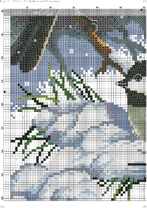 Chickadees and Pinecones-003 (494x700, 487Kb)