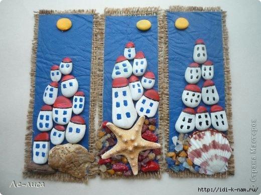 что можно сделать из морской гальки, поделки из гальки с детьми, Хьюго Пьюго поделки из гальки,