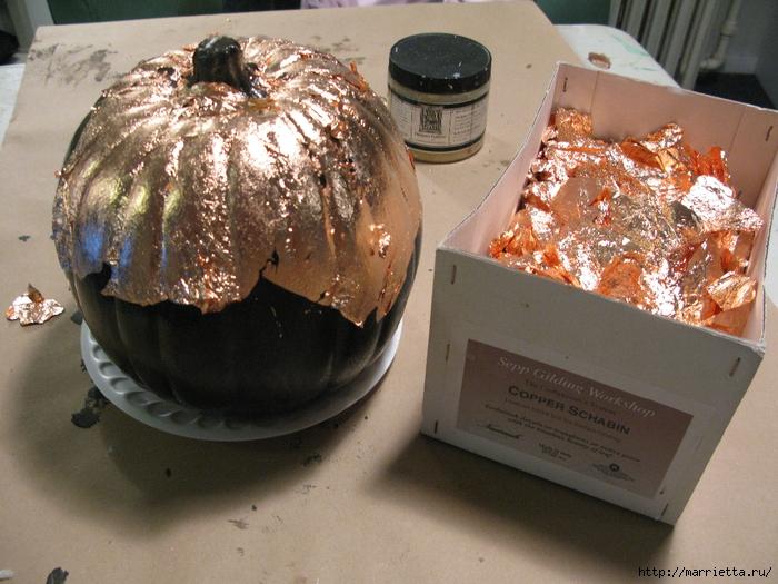 Декоративная тыква с эффектом состаренного металла (4) (700x525, 333Kb)