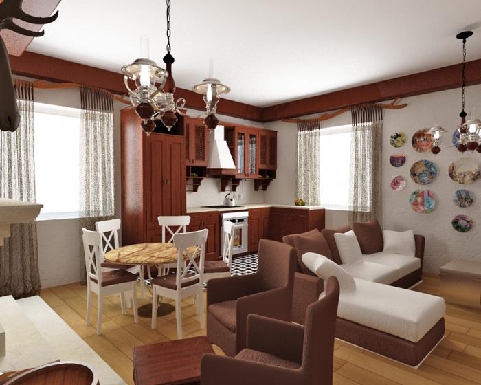 Гостиная в стиле кантри (2) (700x560, 345Kb)