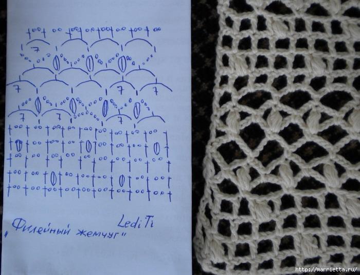 Crochet.  Vestir con mangas cortas (1) (700x536, 223KB)