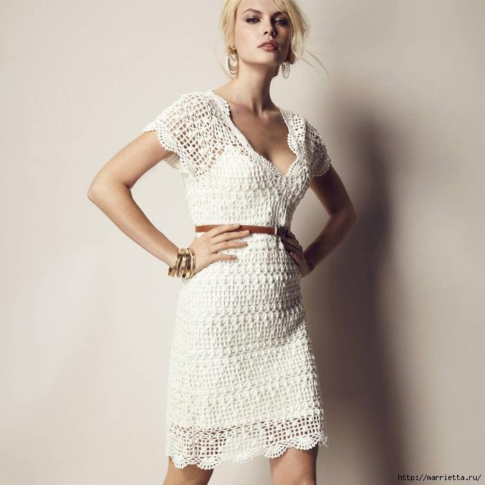 Красивый рукав платья крючком