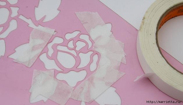 Rosas románticas espejo.  La idea de la pintura (3) (629x362, 96Kb)