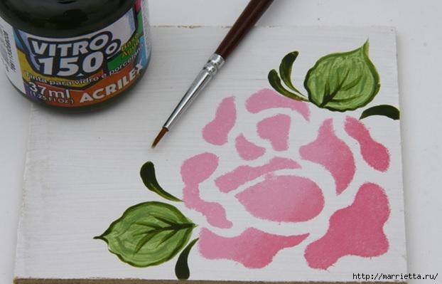 Rosas románticas espejo.  La idea de la pintura (7) (622x399, 124Kb)