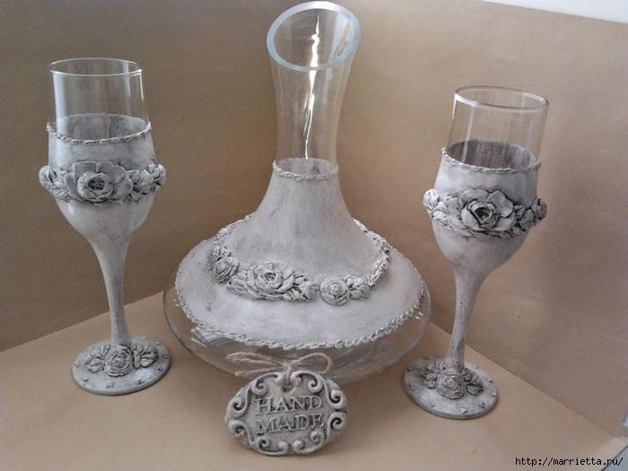 Декорирование бокалов и вазы (3) (700x525, 252Kb)