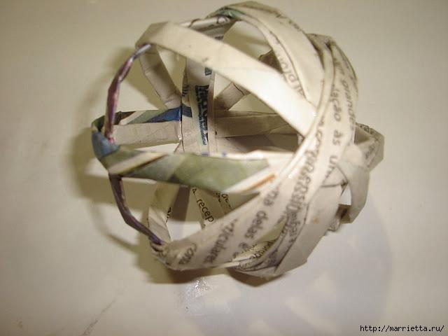 Декоративные шары из газетных трубочек (4) (640x480, 124Kb)