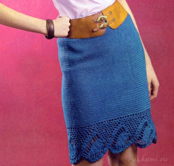 Вязание низа юбки