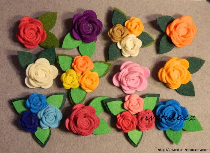 Розы из войлока для создания аксессуаров (6) (700x511, 324Kb)