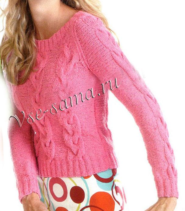 Rozovyi-pulover-s-kosami-ris (606x690, 103Kb)