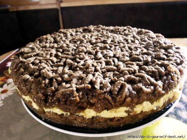 Тертый пирог с творогом рецепт с фото