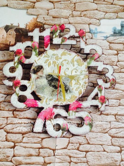 Настенные часы шебби шик (525x700, 193Kb)