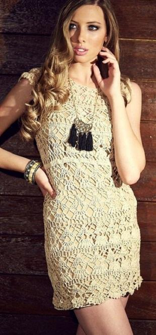 <кружевное платье крючком