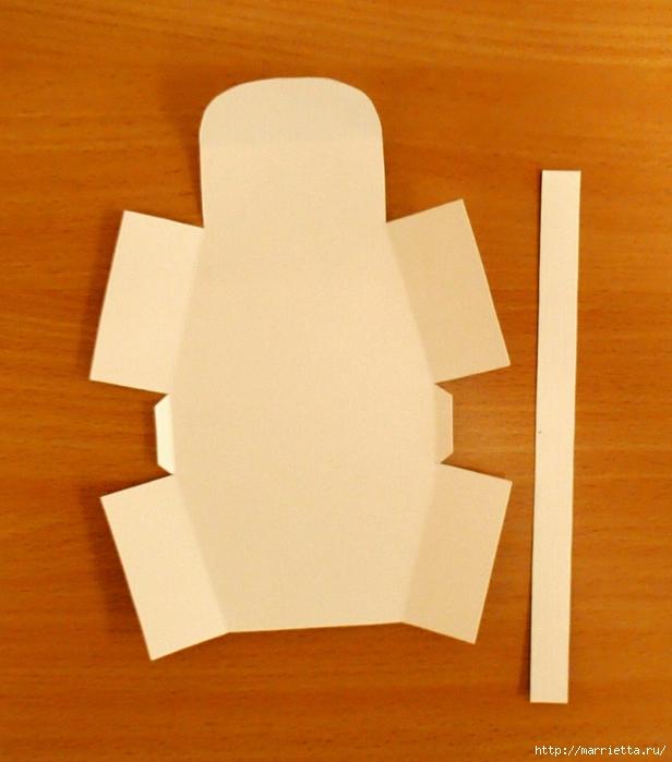 Сумочки из бумаги. Шаблон (6) (616x700, 256Kb)