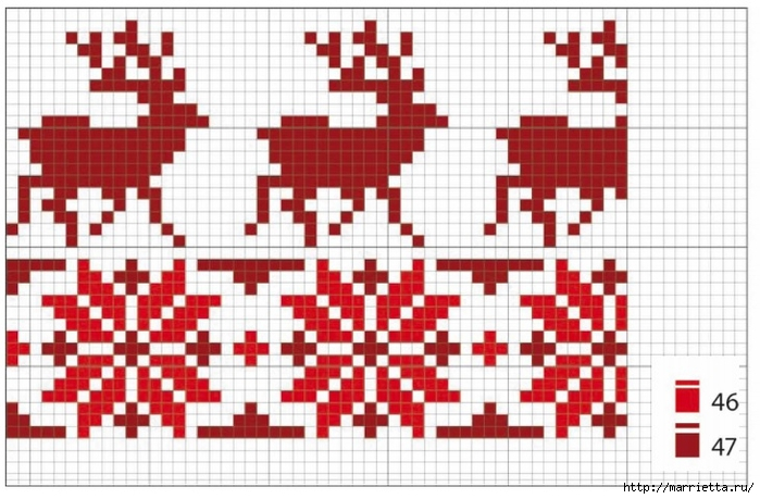 Рождественская вышивка подушки