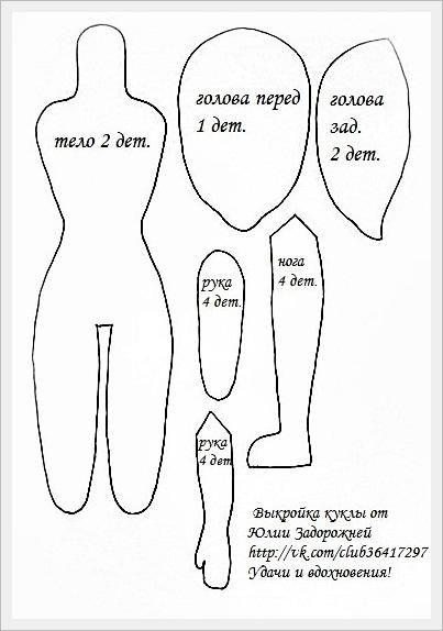 Текстильные куклы своими руками с выкройками мастер
