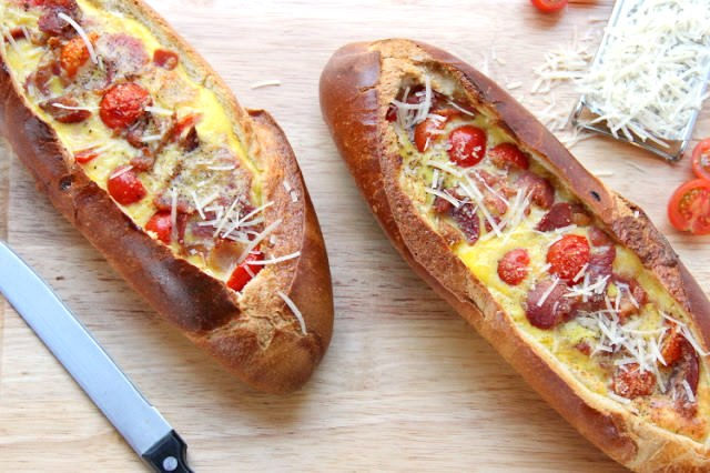 Сэндвич из батона рецепт с фото