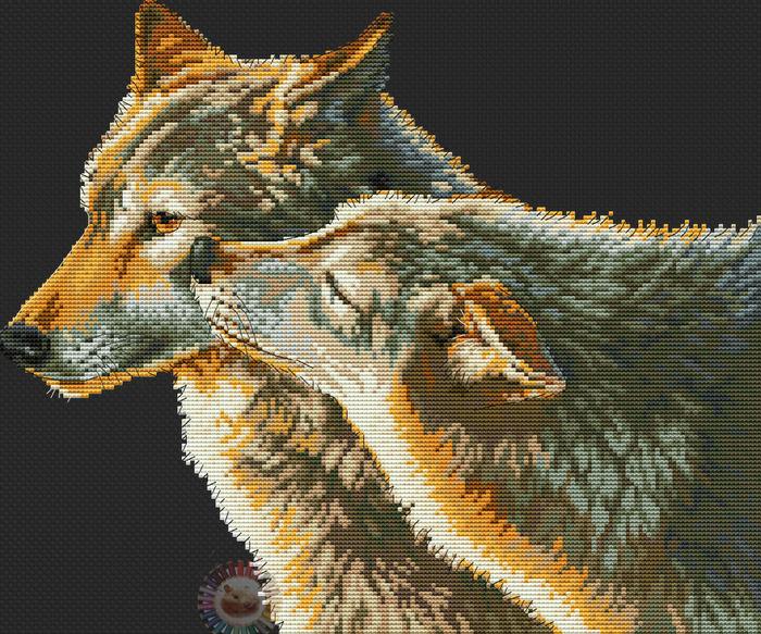Wolf Kiss (700x583, 582Kb)