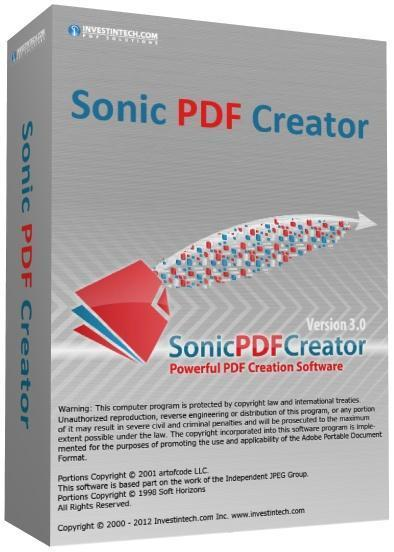 Sonic PDF Creator 3.0.5.0 (394x552, 34Kb)