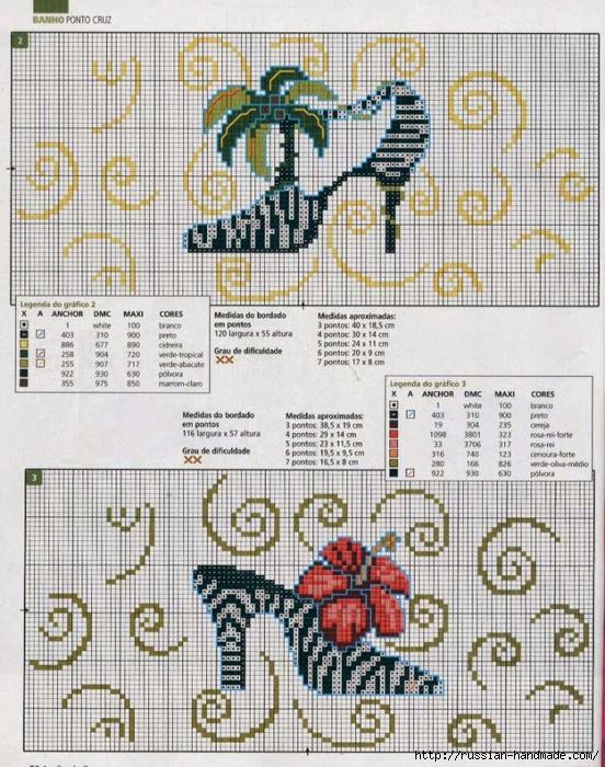 Туфелька - схема вышивки для полотенца (4) (552x700, 366Kb)