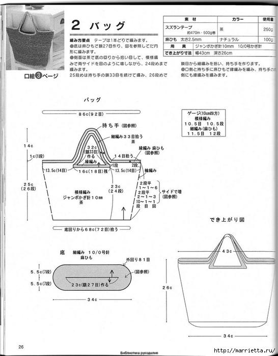 Корзинка и сумки крючком из полиэтиленовых пакетов (25) (546x700, 183Kb)