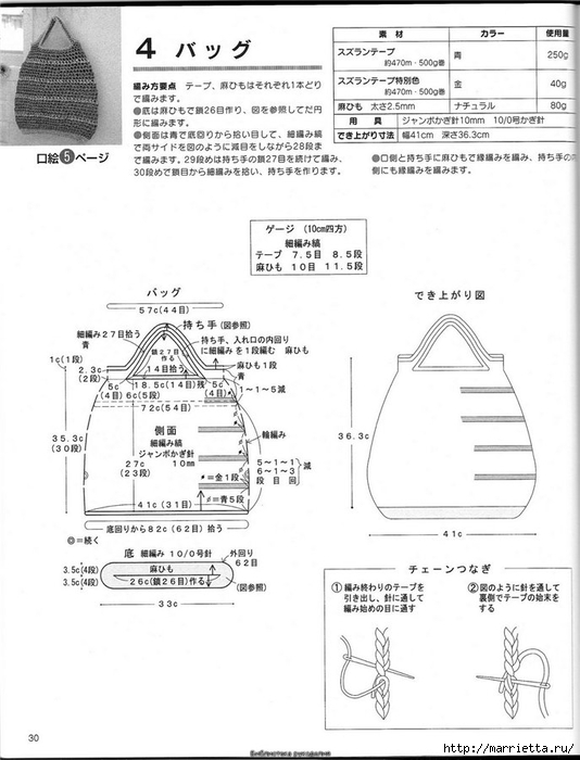 Корзинка и сумки крючком из полиэтиленовых пакетов (29) (534x700, 181Kb)