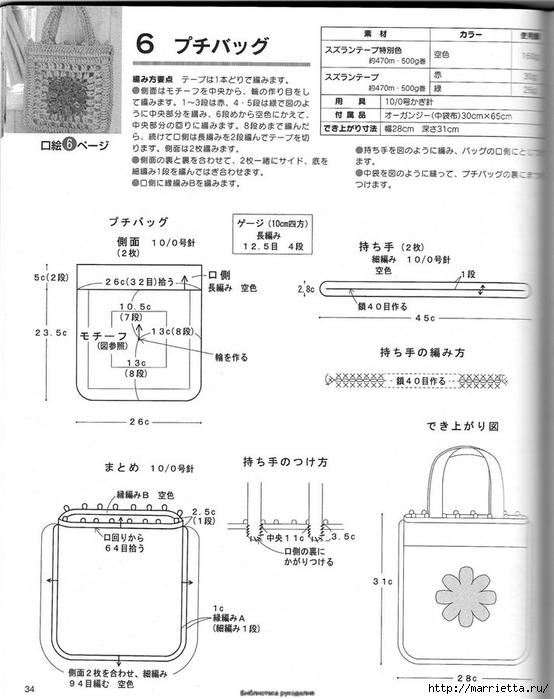 Корзинка и сумки крючком из полиэтиленовых пакетов (31) (554x700, 200Kb)