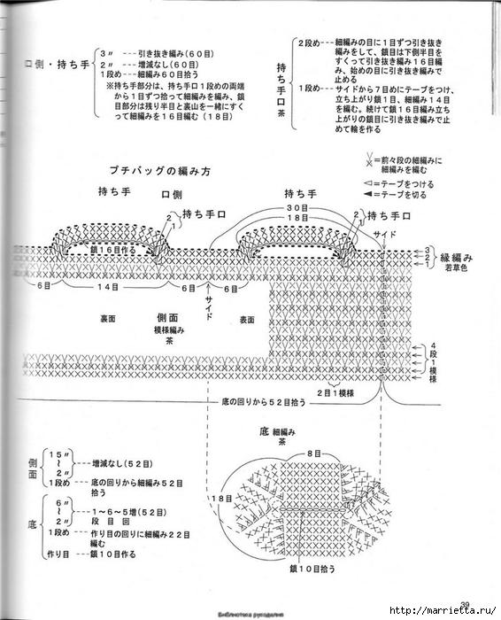 Корзинка и сумки крючком из полиэтиленовых пакетов (36) (566x700, 220Kb)