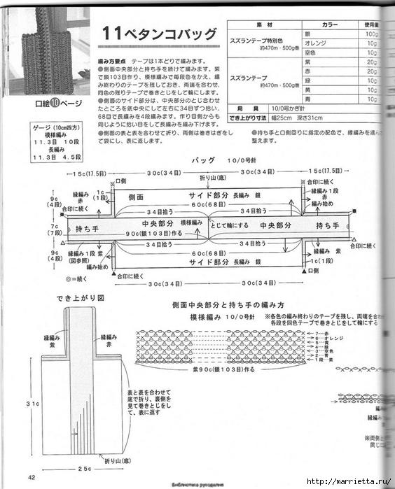 Корзинка и сумки крючком из полиэтиленовых пакетов (39) (564x700, 236Kb)