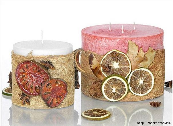 Создаем свечи с использованием пищевых продуктов и природных материалов (9) (604x440, 184Kb)