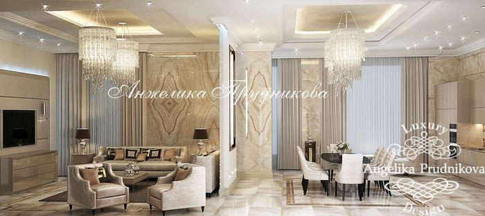 02_Интерьер гостиной и столовой в стиле неоклассика (700x312, 251Kb)