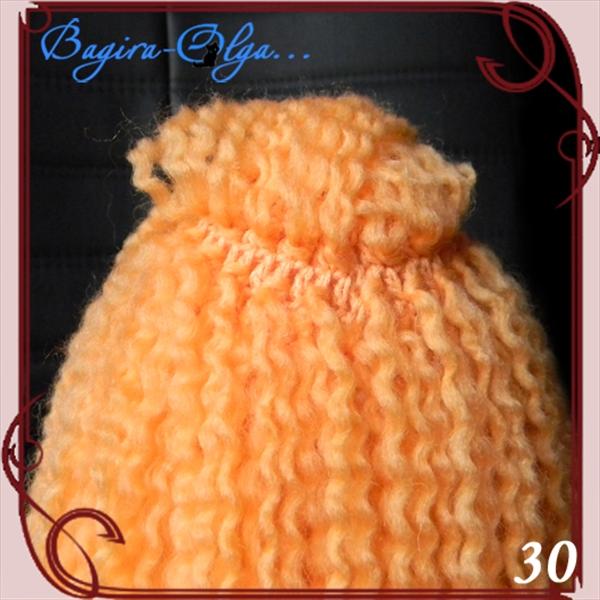 Как сделать из ниток волосы для вязаной куклы из 5