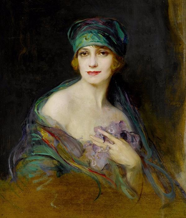 1922_Портрет принцессы Располи, герцогини де Грамон (Portrait of Princess M. Ruspoli, Duchess de Gramont) (598x700, 425Kb)