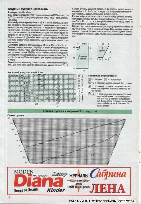 DIANA Маленькая  1998-05 Вязание_10 (483x700, 299Kb)