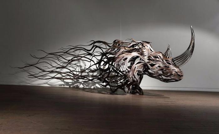 проволочные скульптуры Сен Хун Кан 10 (700x427, 169Kb)